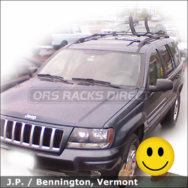 Jeep Grand Cherokee Factory Rack Compatible Kayak Rack with Malone AutoLoader xV J Cradle Kayak Carrier