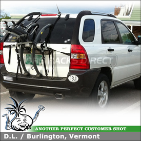 Kia Sportage Rear Hatch Trunk Bike Rack - Saris 801 Bones 3 Bike Trunk and Rear Hatch Door Rack