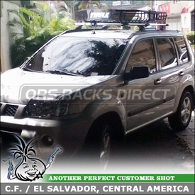 Luggage Basket for Roof Rack AeroBlade Crossbars 2012 Nissan X-Trail T30 using Thule 460R Foot Pack, 3063 Podium Fit Kit, ARB47 Load Bars & 690XT MOAB Basket