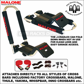 Malone DownLoader Fold-Down Kayak Carrier and Malone J-Loader Kayak Rack