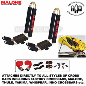 Malone J-Pro2 Kayak Rack and Malone J-Pro Kayak Carrier