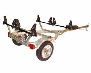 Malone MPG461GU Microsport Trailer Package for Two Kayaks or Two SUPs