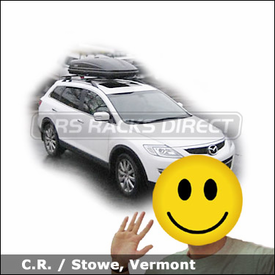Mazda CX9 Roof Rack & Cargo Box with Thule 450 CrossRoad System and 604 Ascent 1600 Roof Box