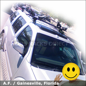 Nissan Pathfinder Roof Rack for 2 Kayaks with Thule 450 Crossroad System & Yakima Mako-Hully Rollers Kayak Racks