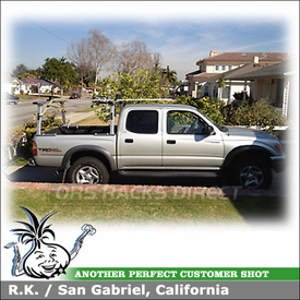 Pickup Truck Rack-Ladder Rack for 2003 Toyota Tacoma Quad Cab Truckbed using TracRac T-Rac G2 System