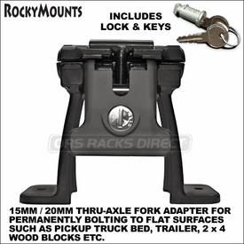 RockyMounts DriveShaft HM 15mm and 20mm Thru-Axle Bolt On Truck Bike Mount