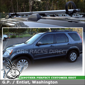 RockyMounts Fork Mounted Bike Carrier for Factory Car Rack on a 2005 Honda CRV