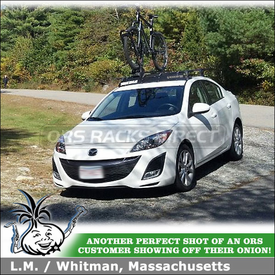 Roof Bike Rack for 2010 Mazda 3 4-door Sedan