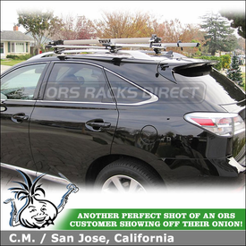 Roof Bike Racks On 2012 Lexus RX350 Factory Side Rails