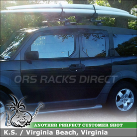 Roof Rack Cross Bars And Stand Up Paddleboard Rack For 2004 Honda Element  Using Thule