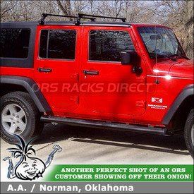 Roof Rack Cross Bars On 2009 Jeep Wrangler Unlimited Hard Top Rain Gutters