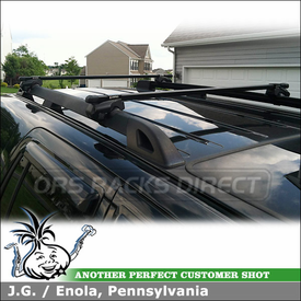 Roof Rack Cross Rails for 2007 Ford Expedition Factory Side Rails using Inno IN-FR Car Rack System