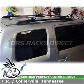 "Roof Rack Cross Rails for 2011 Honda Pilot Factory Side Rails using Yakima RailGrab Towers & 58"" Crossbars Kit"