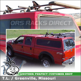 Roof Rack Crossbars Mounted Kayak Saddles-Roller for 2000 Ford F250 Truck Shell Topper Tracks