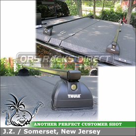 Roof Rack for Diamondback Aluminum Truck Bed Tonneau Cover on a 2011 Chevrolet Silverado