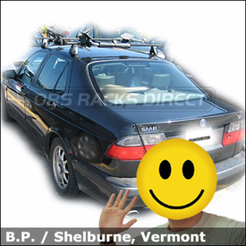 Saab 95 Kayak Roof Rack With Thule 400XT Feet And Thule 878XT Set To