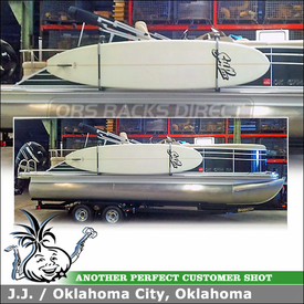 Stand-Up PaddleBoards Rack for 2011 Bennington 2275 RCW Pontoon Boat using Thule 810 SUP Taxi
