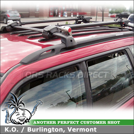 Subaru Forester Bike Racks for Factory Rack Cross Bars using Yakima ForkLift