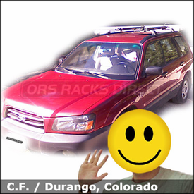 Subaru Forrester Bike Rack for Factory Crossbars with Rocky Mounts Noose SL Bike Carriers