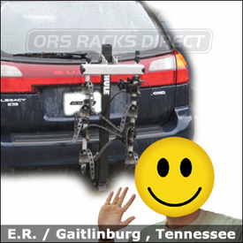 Subaru Legacy Hitch Bike Rack with Thule 954 Ridgeline Bicycle Carrier