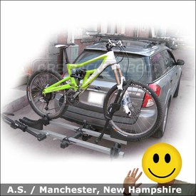 Subaru Outback Hitch Bike Rack with Thule 916XT T2 Platform Style Bike Rack