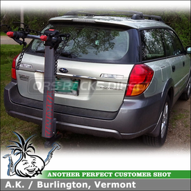 Subaru Outback Receiver Trailer Hitch Mount Two Bike Rack - Yakima DoubleDown Ace Hitch Bike Racks