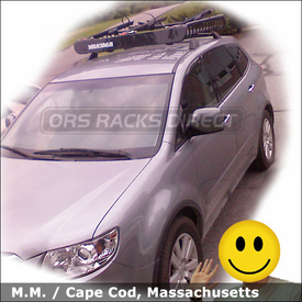Subaru Tribeca Roof Rack Basket and Bike Racks with Yakima MegaWarrior, Viper & SteelHead Bike Carriers