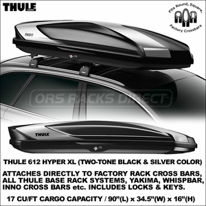 The Superior New Thule 612 Hyper Xl Cargo Box For Car Roof Racks