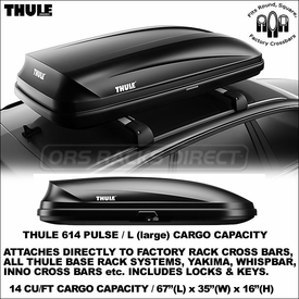 Thule 614 Pulse L Waterproof Hardshell Cargo Box