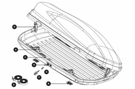 Thule 628 Force L Cargo Luggage Roof Box Available Parts