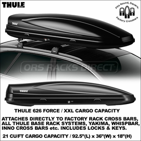 Thule 626 Force XXL Roof Cargo Gear Box Now In