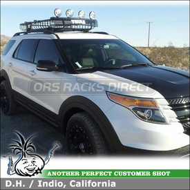 Thule 690XT MOAB Basket and 691XT Extension for 2012 Ford Explorer Factory Roof Rack Cross Bars
