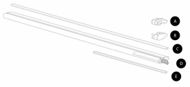 """Thule ARB43 Aeroblade Load Bar Replacement Parts (43"""")"""