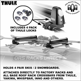 Thule Racks 92724 Universal Flat Top Snowboards-Skis Carrier Now Available
