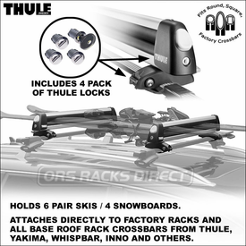Thule Racks 92725 Universal Flat Top Ski-Snowboard Rack Now Available