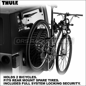Thule Racks 963PRO Spare Me Bike Rack for Rear Mount Spare Tires