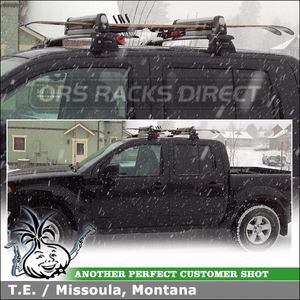 Thule Snowboards Skis Rack For 2011 Nissan Frontier Crew Cab Roof Rack  Whispbar Crossbars System