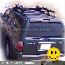 Toyota 4Runner Roof Rack for Bicycles with Thule 430 Tracker II System & 599XTR Big Mouth Bike Racks