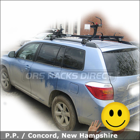 Toyota Highlander Roof Rack Tandem Bike With Yakima Lowrider System Sidewinder And Steelhead