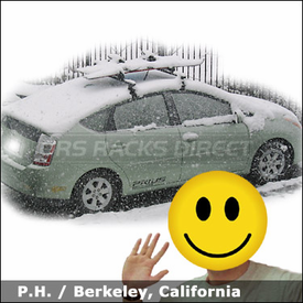 Toyota Prius Roof Rack For Skis U0026 Snowboard With Thule 400XT Car Rack  System And 91725