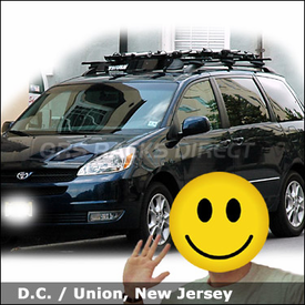 Toyota Sienna Roof Rack For Bikes With Thule 450 Crossroad System, 871XT  Wind Deflector U0026