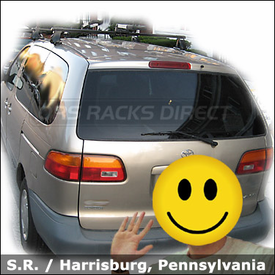 Toyota Sienna Roof Rack for Kayaks with Thule 400XT Base System and Thule 830 Stacker Kayak Rack