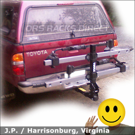 Toyota Tacoma Hitch Mount Bike Rack with Thule 916XT T2 Folding Platform Bike Rack
