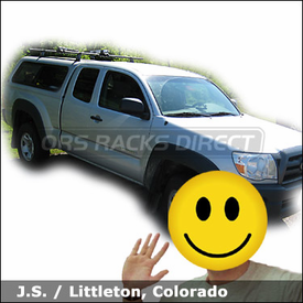 "Toyota Tacoma Leer Topper Truck Rack for Kayaks with Thule 60"" Tracks, 430 Tracker II Roof Rack & 830 Stacker Kayak Rack"