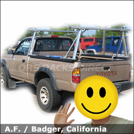Toyota Tacoma Truck Rack with TracRac Sliding Track Rack System