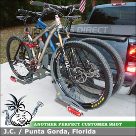 Trailer Hitch Mount 2 Bike Rack for 2006 Chevy Silverado using 4229 Saris Thelma 2 Bike Hitch Rack