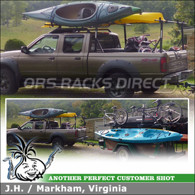 "Truck Rack for 2003 Nissan Frontier Pickup Truckbed using Yakima Outdoorsman 300 (Compact) w/ 66"" Cross Bars"