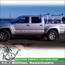 Truck Rack for 2012 Toyota Tacoma Quad Cab Pickup Truckbed using Thule 422XT Xsporter & XK1 Adapter Kit