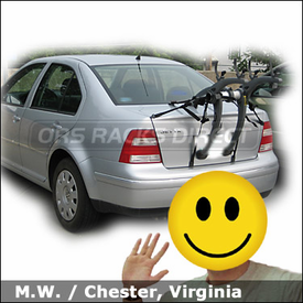 Volkswagen Jetta Trunk Bike Rack with Saris Bones 2 Bike Rack