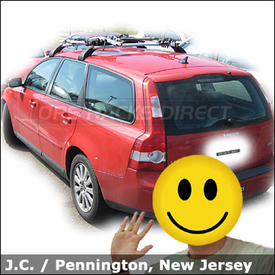Volvo v50 Roof Rack for Bikes with Thule 598 Criterium on Volvo Votex Factory Rack
